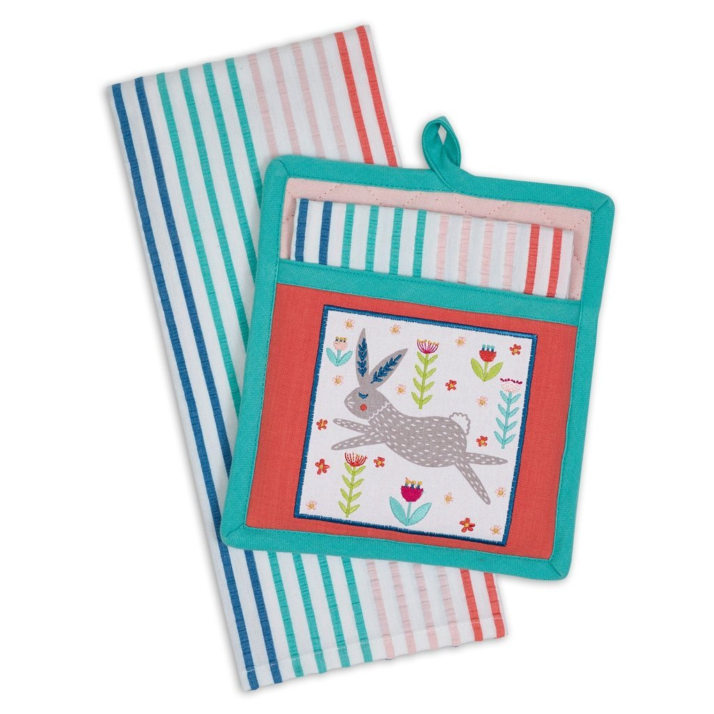 Folk Bunny Potholder Gift Set - the-southern-magnolia-too