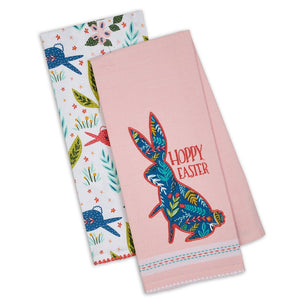 Hoppy Easter Dishtowel Set of 2 - the-southern-magnolia-too