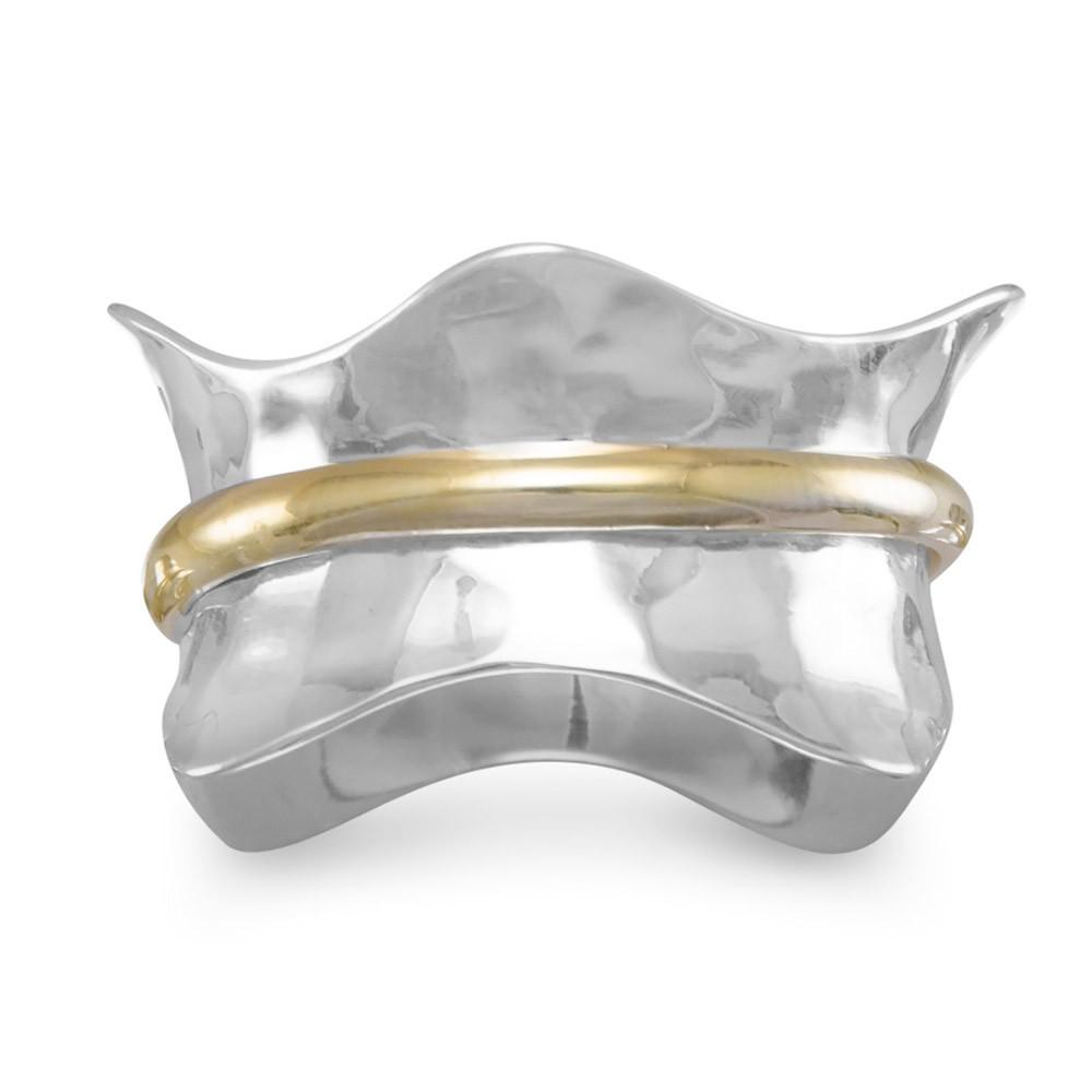 Two Tone Wave Ring - the-southern-magnolia-too