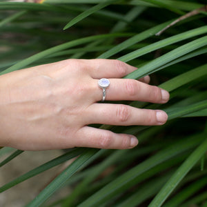 Faceted Moonstone Stackable Ring - the-southern-magnolia-too