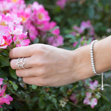 Load image into Gallery viewer, Rhodium Plated CZ Friendship Bolo Bracelet - the-southern-magnolia-too