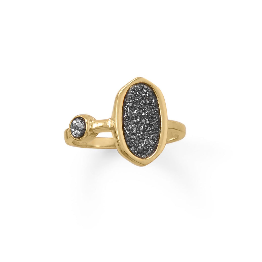 Gold Plate Druzy Ring - the-southern-magnolia-too