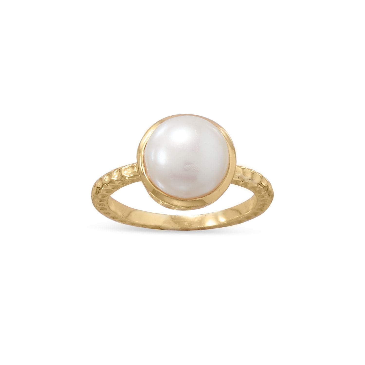 Gold Plated Cultured Freshwater Pearl Ring - the-southern-magnolia-too