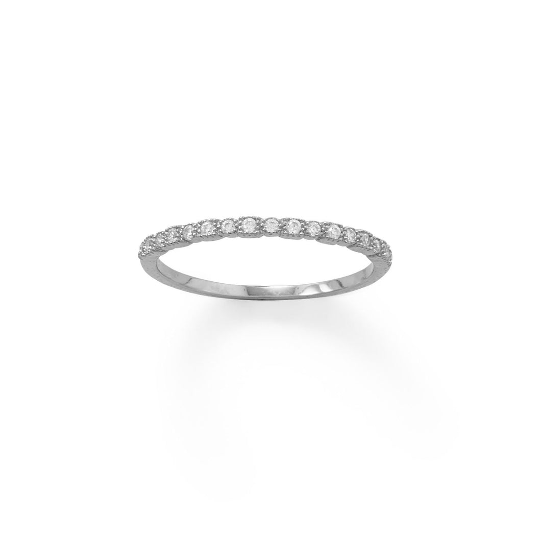 Rhodium Plated Thin CZ Ring - the-southern-magnolia-too