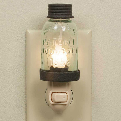 Mason Jar Night Light - the-southern-magnolia-too