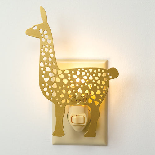 Yellow Metal Llama Night Light - the-southern-magnolia-too