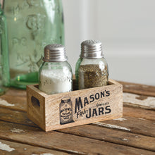 Load image into Gallery viewer, Mason Jars Wooden Salt & Pepper Caddy - the-southern-magnolia-too