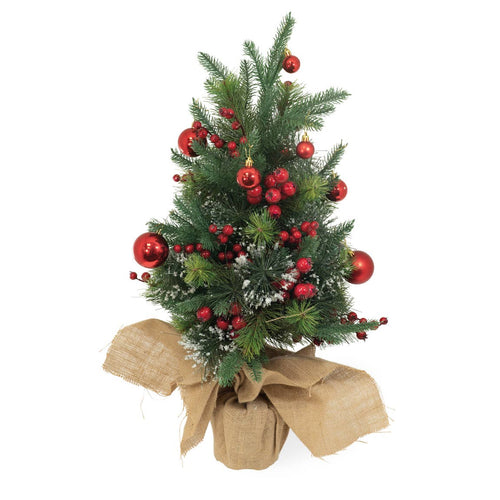 Small Decorated Christmas Tree with Ornaments and Berries - the-southern-magnolia-too