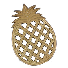 Load image into Gallery viewer, Golden Aluminum Pineapple Trivet - the-southern-magnolia-too