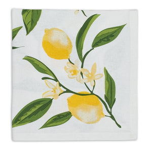 Lemon Bliss Printed Napkin Set - the-southern-magnolia-too