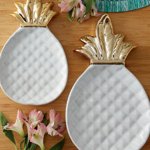 Gold Pineapple Plate - the-southern-magnolia-too