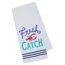 Load image into Gallery viewer, Fresh Catch Embellished Dishtowel - the-southern-magnolia-too