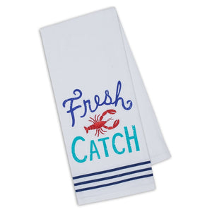 Fresh Catch Embellished Dishtowel - the-southern-magnolia-too