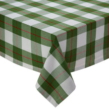 Load image into Gallery viewer, Holly Day Green Red Plaid Tablecloth - the-southern-magnolia-too