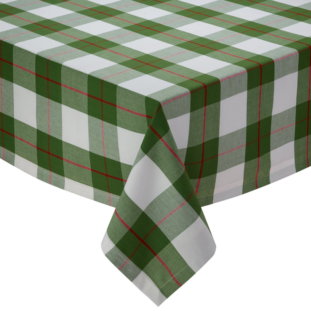 Holly Day Green Red Plaid Tablecloth - the-southern-magnolia-too