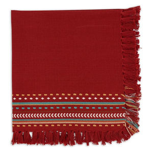 Red Chipotle Hacienda Fringe Napkin Set - the-southern-magnolia-too