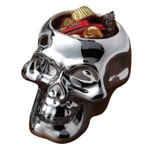 Small Silver Skull Candy Bowl - the-southern-magnolia-too
