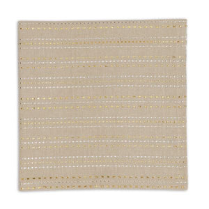 Silver & Gold Dobby Stripe Napkin Set - the-southern-magnolia-too