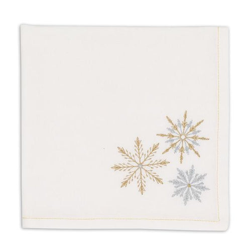 Sparkle Snowflakes Embroidered Napkin Set - the-southern-magnolia-too