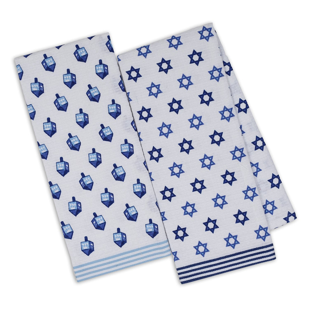 Hanukkah Printed Kitchen Towels Set - the-southern-magnolia-too