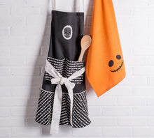 Load image into Gallery viewer, Dia De Los Muertos Ruffle Kitchen Apron with pocket - the-southern-magnolia-too