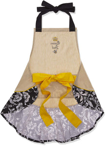 Queen Bee Embroidered Ruffle Apron - the-southern-magnolia-too