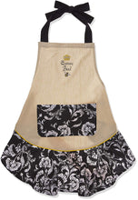 Load image into Gallery viewer, Queen Bee Embroidered Ruffle Apron - the-southern-magnolia-too