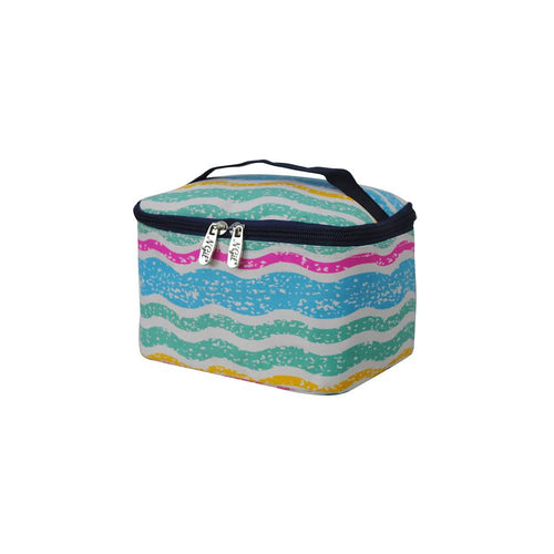 Train Case Cosmetic Bag with Handle - the-southern-magnolia-too