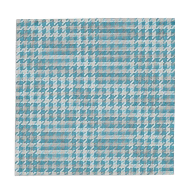 Baja Teal and White Houndstooth Placemat Set - the-southern-magnolia-too
