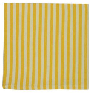 Canary Yellow Petite Stripe Napkin Set - the-southern-magnolia-too