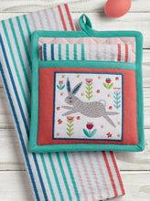 Load image into Gallery viewer, Folk Bunny Potholder Gift Set - the-southern-magnolia-too