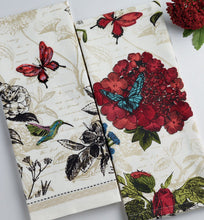 Load image into Gallery viewer, Botanical Embellished Dishtowel Set - the-southern-magnolia-too