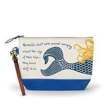 Load image into Gallery viewer, Canvas Wristlet Pouch Beach Cosmetic Bag - the-southern-magnolia-too