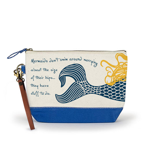 Canvas Wristlet Pouch Beach Cosmetic Bag - the-southern-magnolia-too