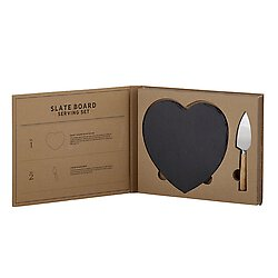 Heart Black Slate Cheese Board Gift Set - the-southern-magnolia-too