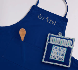 Oy Vey Embroidered Long Chef Apron - the-southern-magnolia-too