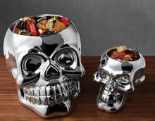 Load image into Gallery viewer, Small Silver Skull Candy Bowl - the-southern-magnolia-too