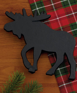 Moose Black Cast Iron Trivet - the-southern-magnolia-too