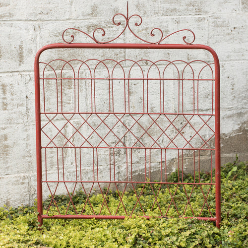 Red Metal Garden Gate - the-southern-magnolia-too