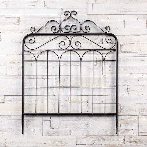 Black Metal Garden Gate - the-southern-magnolia-too
