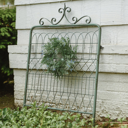 Blue Green Metal Garden Gate - the-southern-magnolia-too