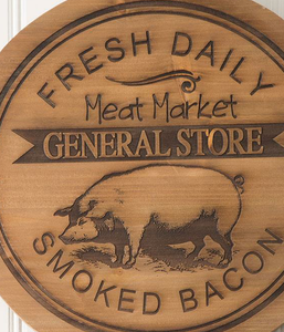 Fresh Daily General Store Pig Wood Lazy Susan - the-southern-magnolia-too