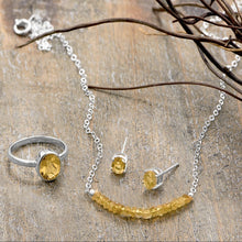 Load image into Gallery viewer, Faceted Citrine Bead Necklace - November Birthstone - the-southern-magnolia-too