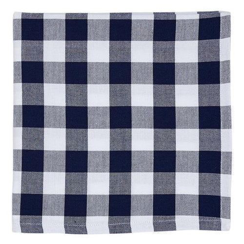 Navy Blue Nautical and White Check Napkin Set - the-southern-magnolia-too