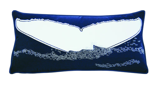 Nautical Whale's Tail Appliqué Indoor/Outdoor Pillow - the-southern-magnolia-too