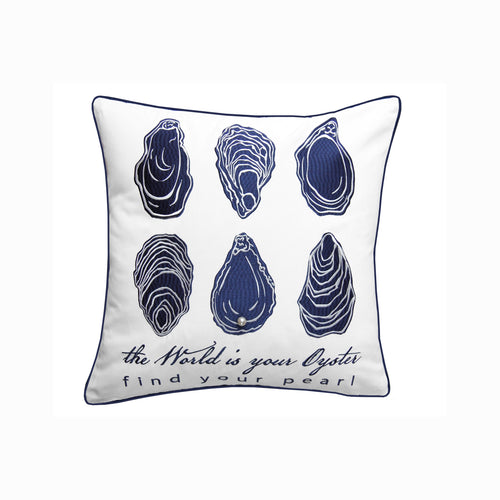 The World is Your Oyster Outdoor Sunbrella(R) Pillow - the-southern-magnolia-too