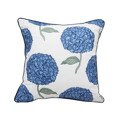Hydrangea Pattern Indoor Outdoor Pillow Sunbrella - the-southern-magnolia-too