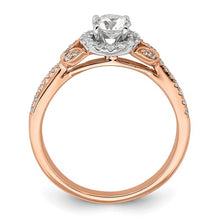 Load image into Gallery viewer, Rose Pink Gold Round Halo Diamond Engagement Ring - the-southern-magnolia-too
