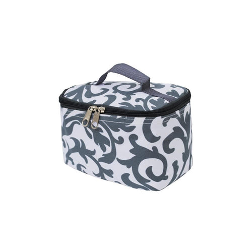Gray Damask Cosmetic Case - the-southern-magnolia-too
