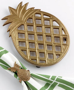 Golden Aluminum Pineapple Trivet - the-southern-magnolia-too